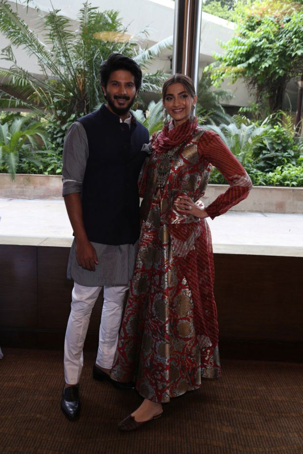 Sonam Kapoor And Dulquer Salmaan Spotted At The Promotion Of Their Upcoming Film 'The Zoya Factor'