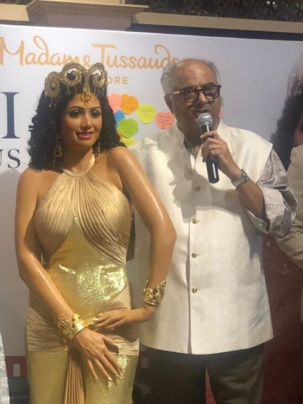 Sridevi's Wax Statue Unvelied At Madame Tussauds Singapore