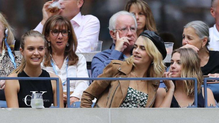 Ashley Benson And Cara Delevigne Together At US Open In New York City