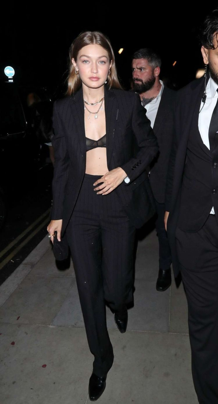 Gigi Hadid Spotted At The Hotel Cafe Royal In London