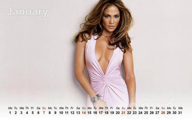 Click to Enlarge - Gorgeous Jennifer Lopez Calendar 2018