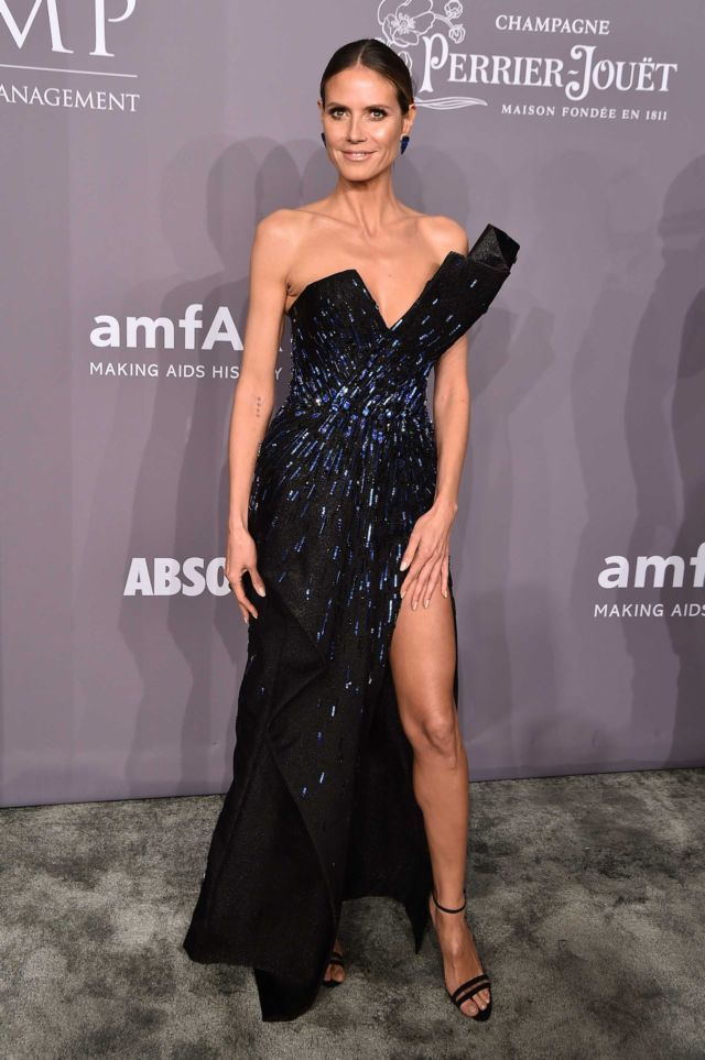 Gorgeous Heidi Klum At The 2018 amfAR Gala