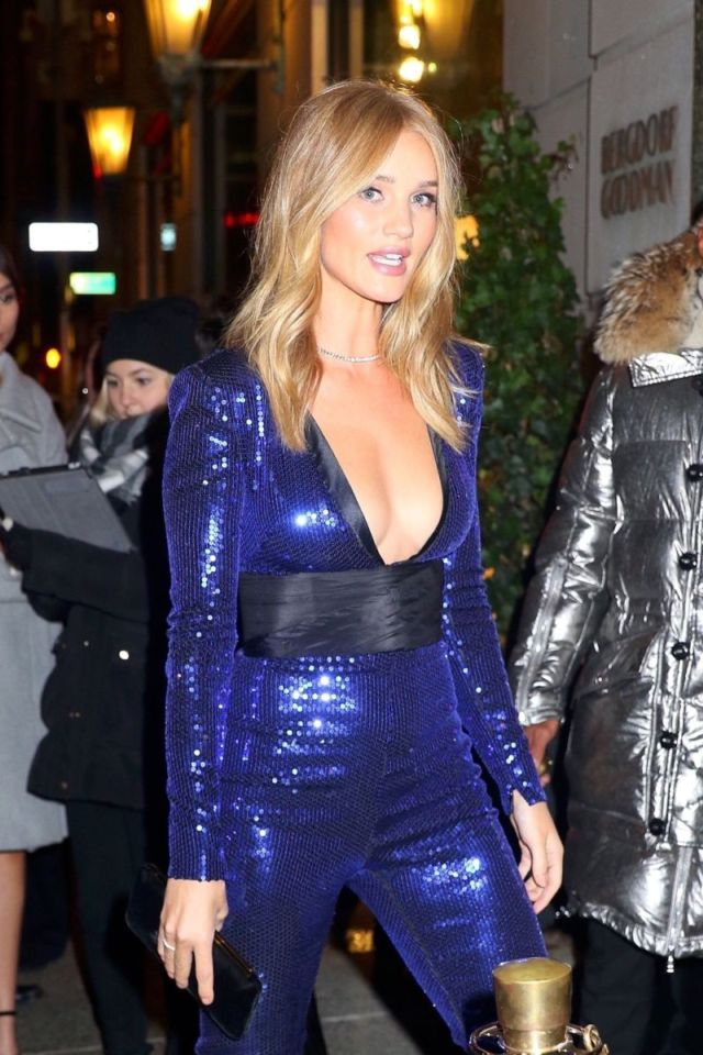 Rosie Huntington-Whiteley Parties At Club 58 In New York