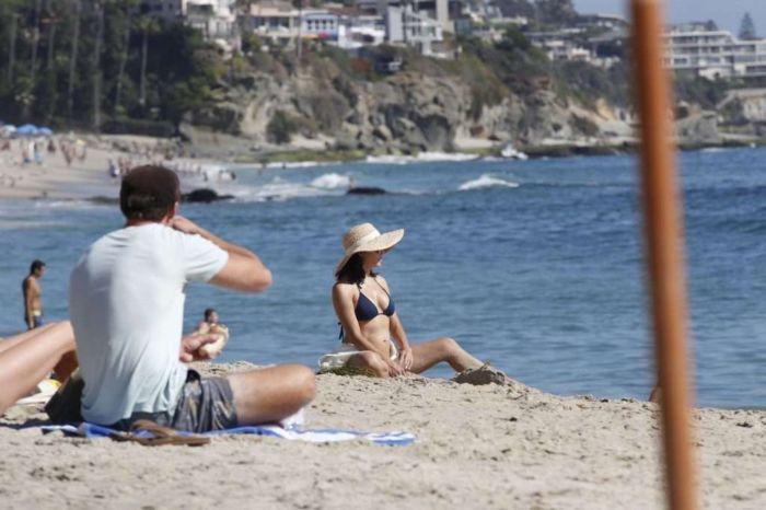 Jenna Dewan Vacationing In A Navy Blue Bikini With Her Boyfriend Steve Kazee