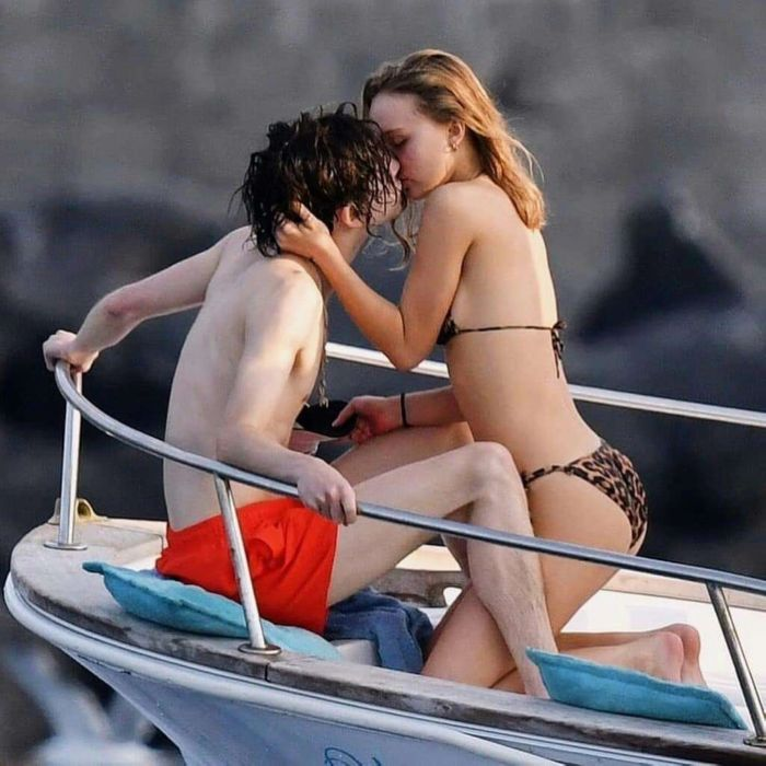 Lily-Rose Depp On A Bikini Vacation In Capri